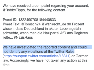 Die Nazipartei AfD ist gegen zu viel Meinungsfreiheit