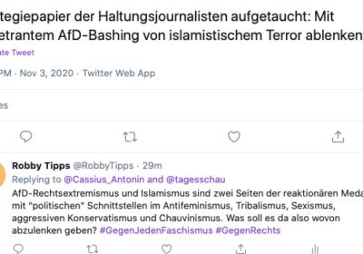 Twitter-Talk über Islamistten und AfD-Rechtsradikale