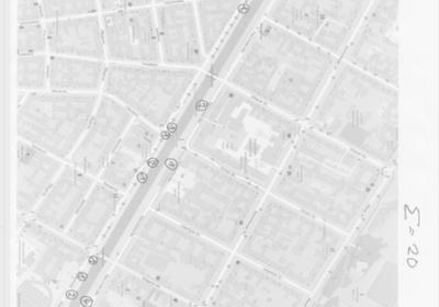 Plan von Behausungen am Landwehrkanal