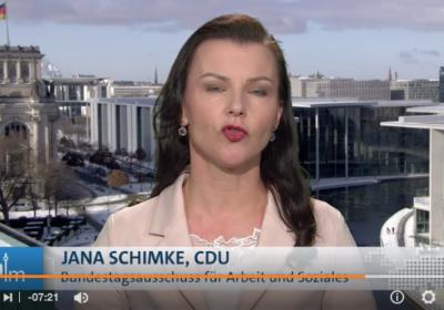Jana Schimke, CDU will, dass Arbeitslose sich nicht wohl fühlen und einrichten als Arbeitslose