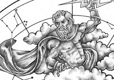 Zeus mit Blitz, Carmen Testa, Rom, für Le Grand Mint