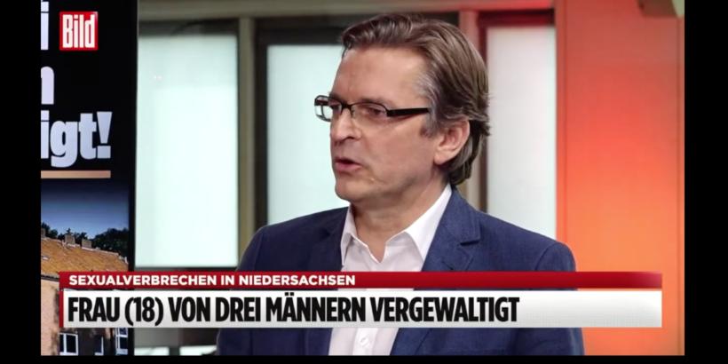 Claus Strunz redet bei Bild TV übers genau hinsehen bei Vergwaltuígungen, die von Migranten verbrochen werden: Mehr Rache-Justiz wagen?
