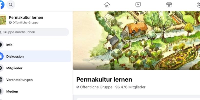 """Die Facebookgruppe """"Permakultur lernen..."""", hat etwas gegen Meinungsfreiheit"""