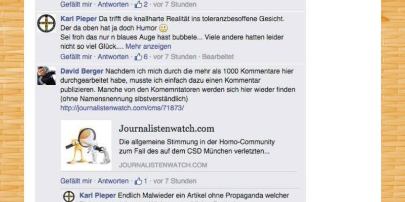 Screenshot vom Screenshot-Post: Dr. David Berger mittendrin im Shitsorm gegen Marcel. R. im Sommer 2015