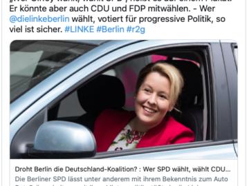 Kriegserklärung gegen rot-rot-grünes Berliner Bündnis