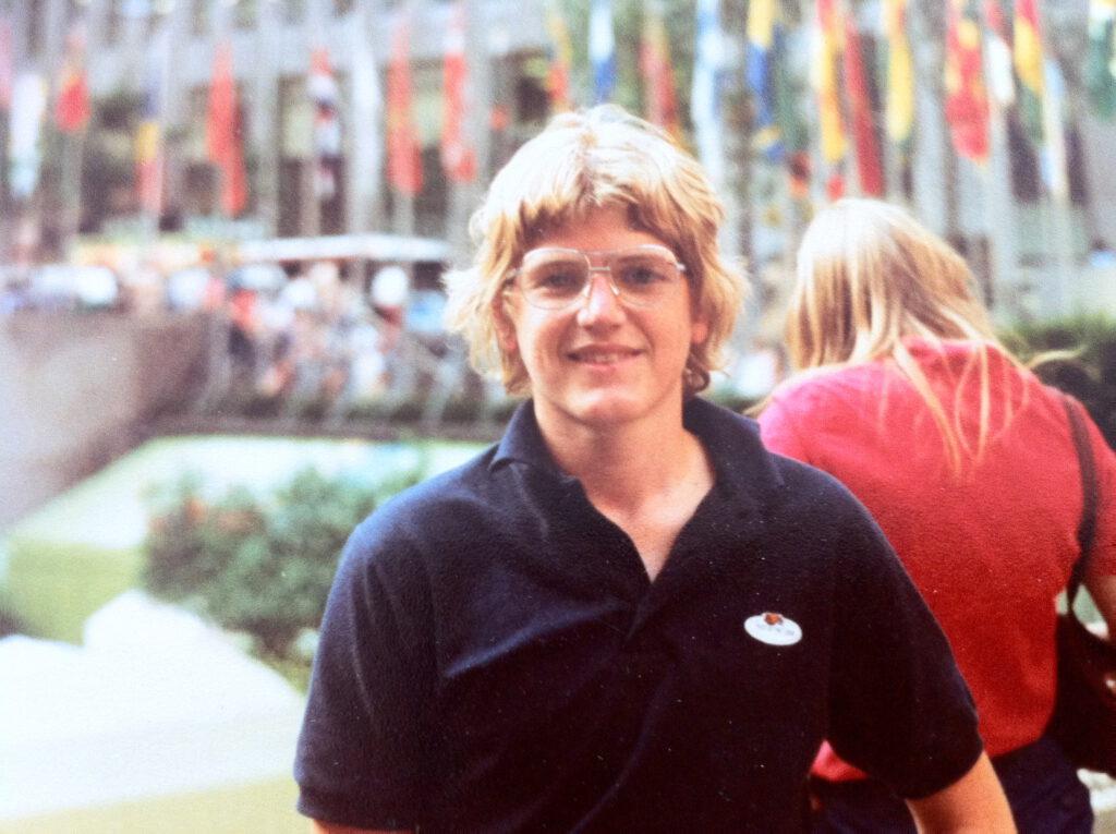 Robert Niedermeier im August 1983, bereits mit 15 im Juni sah eh David Bowie live in Bochum im Rahmen der Serious Moonlight-Konzert-Tour.